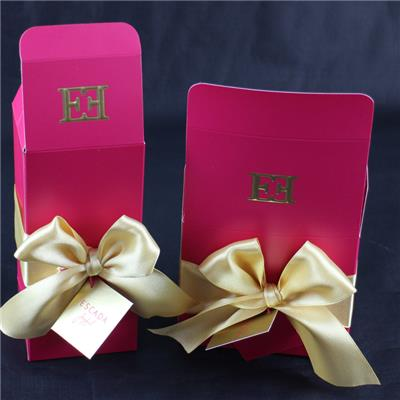 Customized Gift Bag With Satin Bow