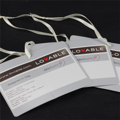 Customized Printing Brand Hangtag For Apparel