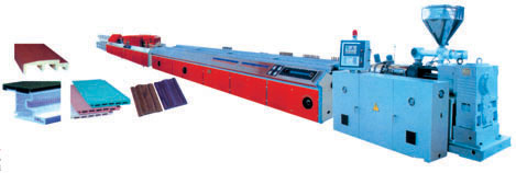 SJSZ series cone-shaped twin screw plastic profile extrusion lines/ Wood plastic profile extrusion line