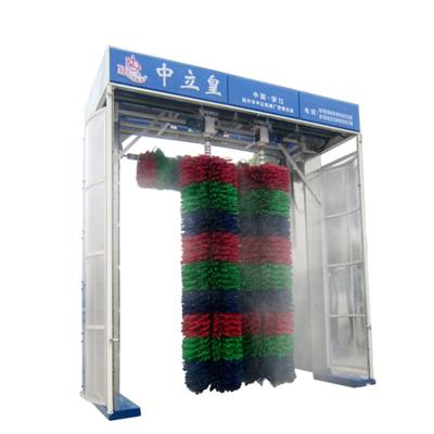 Automatic 3 Brushes Double Layers Rollover Bus Wash Machine