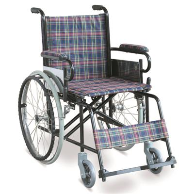 #JL868 - Economic Manual Wheelchair With Dual Cross Brace & PE Foot plates