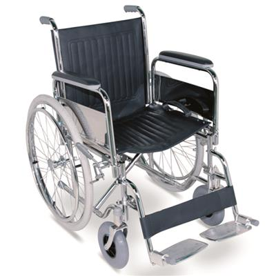 #JL901 - Standard Manual Wheelchair With Detachable Armrests & Footrests And Pneumatic tiles