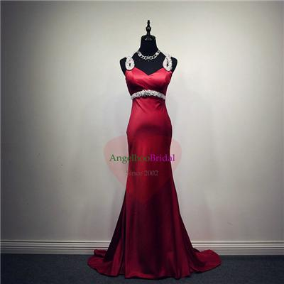 Puddle Train Red Prom Dresses P1507