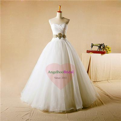 Organza Ball Gown Wedding Dresses WD1551