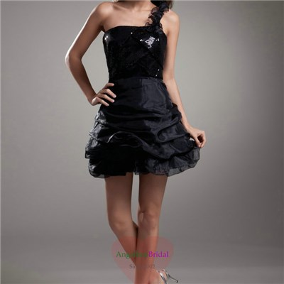 Black Organza Cocktail Dresses CD1604