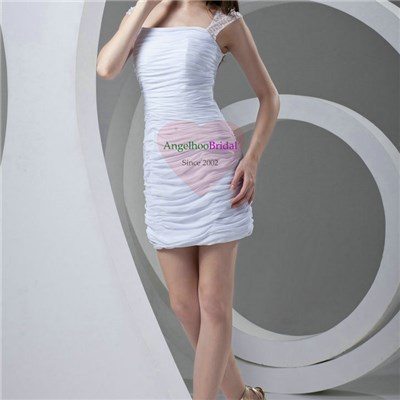 Sexy White Chiffon Cocktail Dresses CD1603