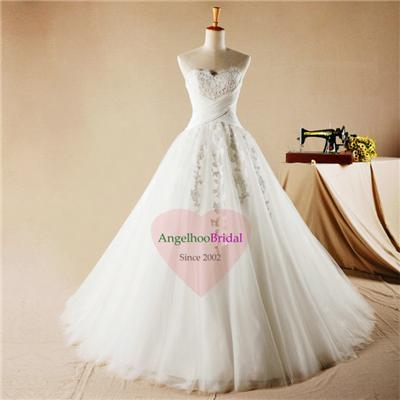 Princess Ball Gown Lace Wedding Dresses WD1558