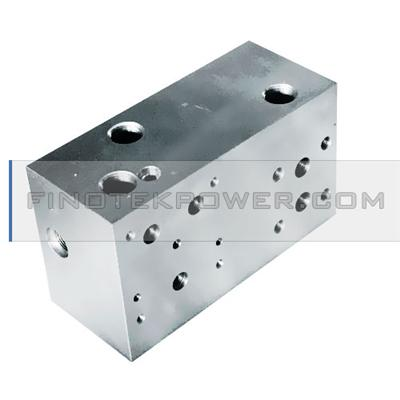 Aluminum Precision Valve Block Terminal by CNC Center, NPT Threaded Hole