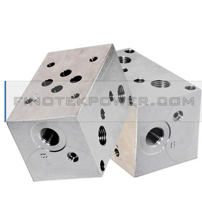 Aluminum Precision Manifold Block, China OEM Factory, ISO-certified Factory