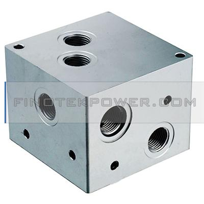 Custom Made Small Aluminum Manifold, Aluminum Hydraulic Manifold Block