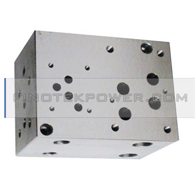 Hydraulic manifolds valve steel manifold block, used in the power hydraulic industry