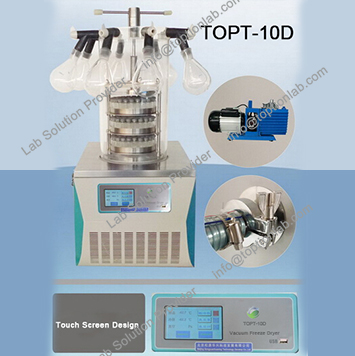 Lyophilization Equipment Vacuum Freeze Drying Machine With ISO & CE