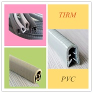 Trim, Edge guard, PVC Steel rubber seal for doo