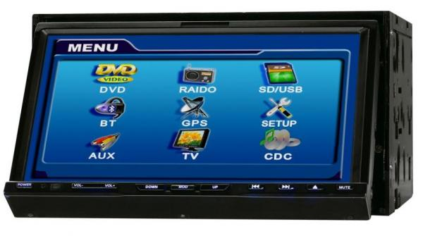 7 inch 2din car dvd with TV with bluetooth(HL-7237B)