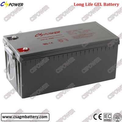 Deep Cycle Solar Gel Battery 12V200ah for Solar