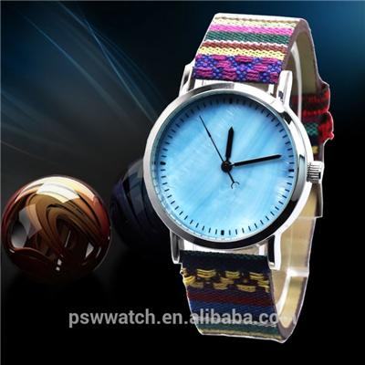 Fabric Leather Wrist Watches Seashell Watch Dail