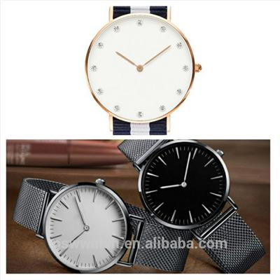 Silver Color Meshband Watch Stainless Steel Quartz Watch