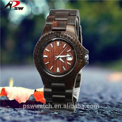 Wood Grain Watches with date