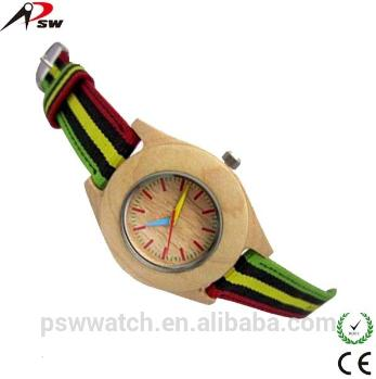 Leather Strap And Wooden Watch