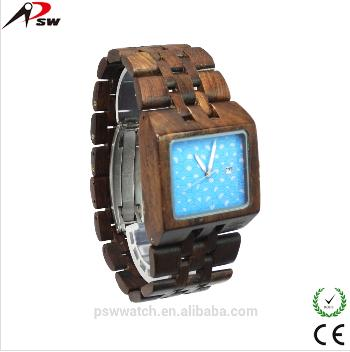 Square Wood Watch