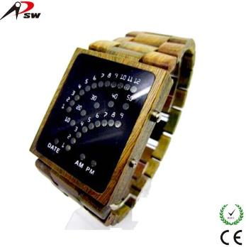 Digital Wood Watch