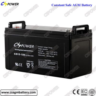 12V120ah Deep Cycle Lead Acid Battery for Lighting and Security