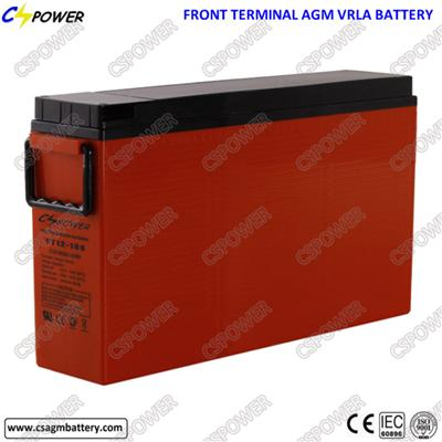 Front Terminal Telecom Rechargeable Lead Acid Battery 12V180ah