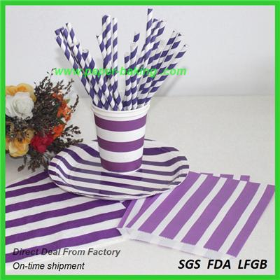 Striped Party Tableware