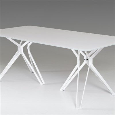 White Glass Dining Table Top
