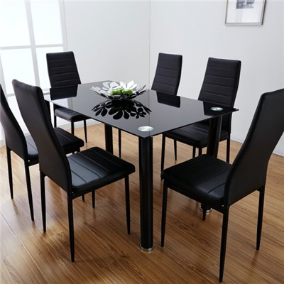 Black Glass Dining Table Top