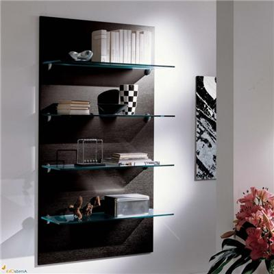 Wall Clear Glass Shelves For Bedroom