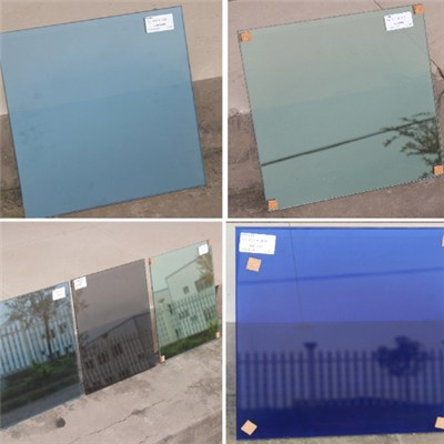 Tempered Insulated Tinted Glass Curtain Wall