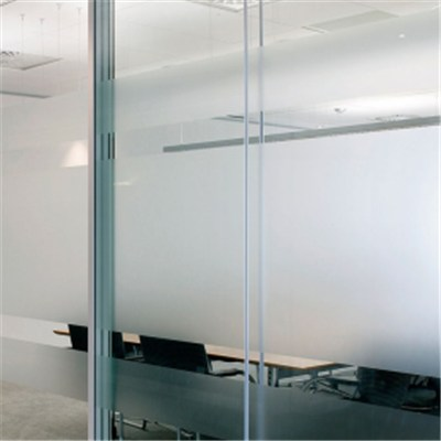 Frameless Frosted Tempered Glass Office Door