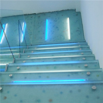 Frosted Tempered Glass Stairs Staircase Steps