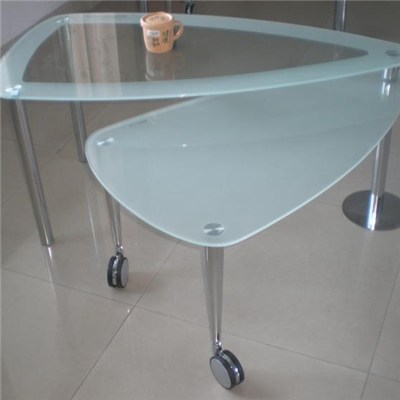 Irregular Shape Glass Coffee Table Top