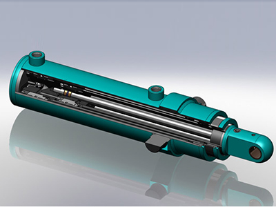 Multi-Stage Telescopic Hydraulic Cylinder For Agriculture