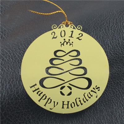 Die-Cut 2D Metal Ornament