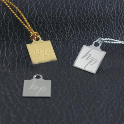 Die-Cut Metal Jewelry Tag
