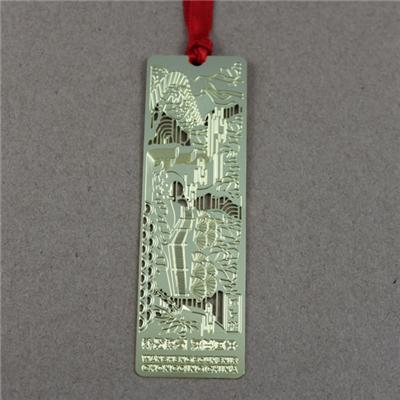 Etching Metal Plain Metal Bookmark