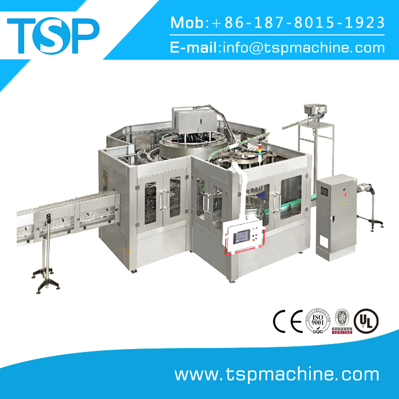 Full automatic mineral water bottle washing, filling and capping machine