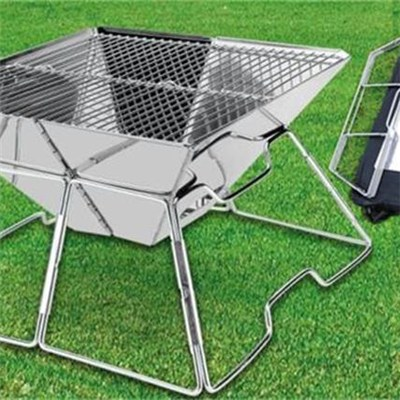 Stainless Steel Charcoal Portable BBQ Grill Outdoor Use With Carry Bag