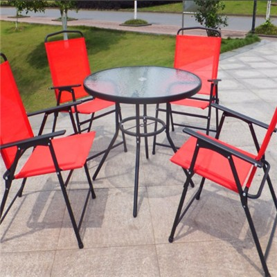 Wholesale Patio 5PCS Dining Table Set Garden Chair And Table Set Made In China