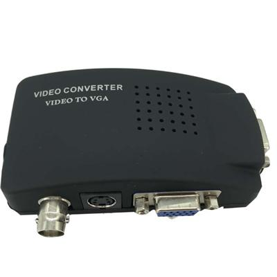 BNC S-Video To VGA Video Converter For CCTV Camera Accessories (BTV100)