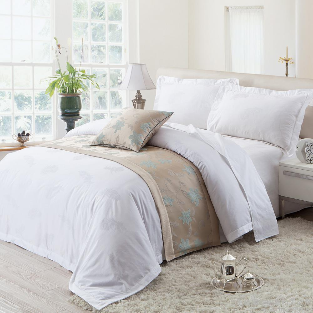 bleached white plain fabric duvet covers for hotel