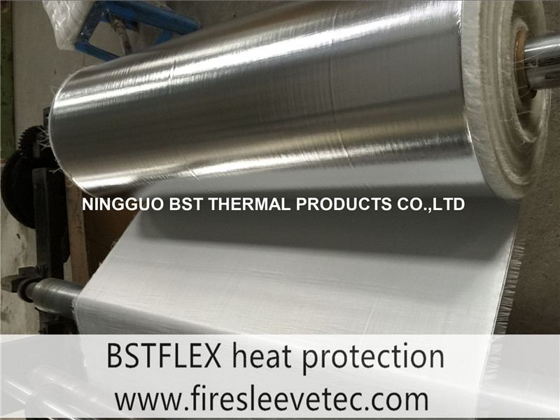 heat reflective aluminum foil fiberglass cloth