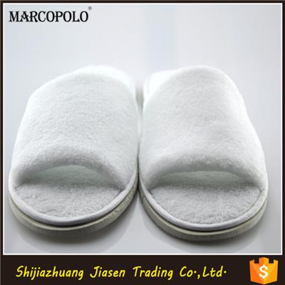 White Hotel Guest Slippers With Open Toe