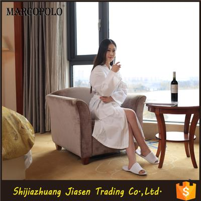 Wholesale White Cotton Hotel Waffle Bathrobe For Woman Adults