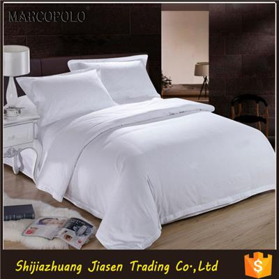 400TC White Sateen Hotel Bedding Set Used For 5 Star Hotel