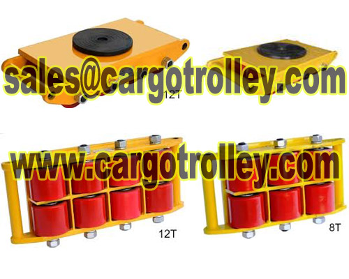 Transport trolley applied on moving and handling loads
