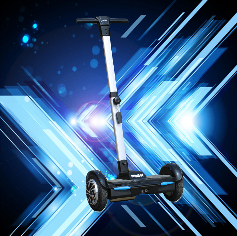 two wheel hoverboard electric self balance  scooter with hand bar